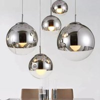 Pendant Lamps Nordic Silver Gold Glass Mirror Ball Light Round Lamp Dining Living Room Kitchen Hanging Fixtures