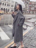 Sondr Women's Woolen Coat Mid-Longy Women's 2020 otoño e invierno nuevo grueso abrigo de lana en contraste R8QX #