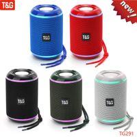 TG TG291 Altavoz portátil Bluetooth Altavoces inalámbricos Potente Alto Boombox Outdoor HiFi TF FM Radio con luz LED