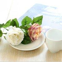 Bezaubernde künstliche Seide dekorative Blumen Stoff Rosen Pfingstrosen Blume für Hochzeit Home Hotel Decorrd7078