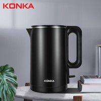 Konka cozinha aço inoxidável portátil lar eléctrica elétrica 1500W 1.8L capacidade preto e branco