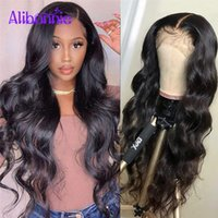 Alibonnie 13X4 Body Wave Wig With Baby Hair Brazilian Wigs For Black Women 4X4 Closure 250 Density Pre Plucked Lace
