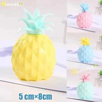 2021 DHL Toys 8*5cm Colorful fruit Mesh Squishy Anti Stress Balls Squeeze Decompression Anxiety Venting gift for kids