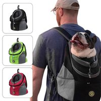 Portable Pet Dog Cat Carrier Bag Double Shoulder Travel Backpack Outdoor Front Bags Oxford Mesh Breathable Pets Accessories Car Seat Covers