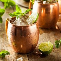 Cups & Saucers Moscow Mule Copper Mugs Metal Cup Stainless Steel Beer Cocktail Coffee Martelado Cobre Chapeado Caneca De Cerveja Copo