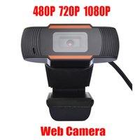HD 웹캠 웹 카메라 30FPS 480P 720P 1080P PC 카메라 내장 사운드 흡수 마이크 USB 2.0 컴퓨터 PC 노트북 학교를위한 비디오 레코드