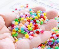 100 500 1000pcs bag 5.5mm Flower Cabochons,Tiny Roses,Semi-Translucent Colors Flat-back Nail Art Resin Pieces Decoration,HGGH545 Decorations