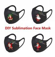Julserie Europa Blanks Sublimation Ansiktsmask DIY Öronremmar kan justeras för termisk överföringsutskrift