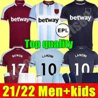 21 22 West Soccer Jerseys Ham 2021 2022 United home Away Yarmolenko Lanzini Noble Bowen Antonio Football Shirt Fornals Rice Adulte Mens + Kit Kit Ensemble P.Fornals Benrahma