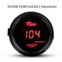 Code-Reader Scan-Tools Auto 52mm Black Shell Red Digital LED-Hintergrundbeleuchtung Muser Wassertemperatur-Messgerät Temp-Meter mit Sensor