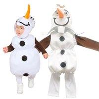 4 adet / takım Yaratıcılık Çocuk Çocuklar Cosplay Sevimli Karikatür Kardan Adam Erkek Kız Cadılar Bayramı Noel Giydirme Kostüm Sahne Parti Giyim Malzemeleri