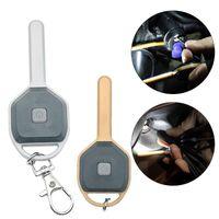 작은 크기 키 체인 램프 토치 긴급 캠핑 야간 가벼운 ABS LED 미니 키 모양 체인 링 손전등 토치