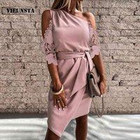 Mujeres elegante con hombro vestido de fiesta sólido sexy sin mangas delgada diseño delgado vestido mini vestido 2021 casual irregular drape vestido mujer