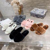 Mujer peludas zapatillas pulseras diapositivas sandalia buzzy soft house damas para mujer zapatos piel mullido sandalias para mujer invierno winter slipp