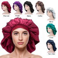 اضافية كبيرة قليلة قبعة الشعر اكسسوارات للشعر المرأة كبيرة الحجم الجمال طباعة الحرير الحرير النوم ليلة كاب غطاء رأس الغلاف bonnets القبعات 10 قطع