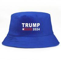 Cadeaux Stock de US Cadeaux Trump 2024 Bucket chapeaux chapeaux cinq étoiles pour femmes homme multicolore une taille unique