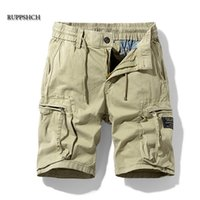 Ruppshch Men Summer Casual Outdoor Military Pocket Pantalon Pantalons Shorts Mode Twill Coton Camouflage 210806