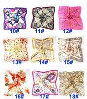 Verano otoño e invierno bufandas pañuelo hembra imitación wersatile profesional pequeño cuadrado seda bufanda HH21-177