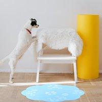 케네즈 펜 34cm 물 분수 매트 꽃 실리콘 사랑 스럽다 다기능 장소 식사 패드 애완 동물 고양이 강아지 홈