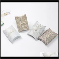 Pillow Box Chocolate Candy Cookie Wedding Party Baby Shower Favor Gift Pillow Packaging Boxes Pattern Gift Box Ct0263 M3Ifr Kfxo5