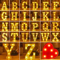 Night Lights 3D LED Light Alphabet Letter 0-9 Digital Marquee Sign Lamp Wall Hanging Indoor Wedding Birthday Party Decoration Gift