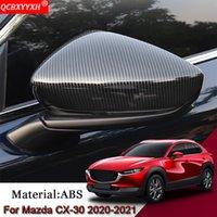 Автомобиль стайлинг ABS автомобиль Внешнее зеркало заднего вида зеркало Cover Sequins Auto наклейки для украшения автомобилей аксессуары для Mazda CX-30 2020 2021