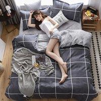 Bettbezug Luxus Gänseblümchen Sonnenblume Pflanze Tier Drucken Bettwäsche Sets Samt Bett Blatt 4 teile / satz Winterwäsche Home Textil auf Lager