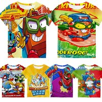 Boys Super Zings 3D Print T Shirts Kids Cartoon Funny T-Shirt Children Superzings Tshirt Girl Clothes 2021 Summer Anime Tee Tops Women's