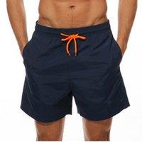 Swimwear Men Maillot de Bain Natación Pantalones cortos de color sólido COLOR DE PLAYA CORTAS DE RESIDENTE PARA MAJOS Troncos de natación de secado rápido MÁS TAMAÑO M-4XL