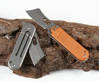 New Pocket Folding Knife 5Cr15Mov Black Coating Stone Wash Blade G10 + Stainless Steel Handle EDC Knives With Retail Box