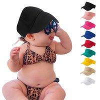 Çocuk Yaz Açık Ayarlanabilir Beyzbol Şapkası Bebek Katı Renk Babys Şapkalar Için Katı Renk Boş Üst Güneşlik Şapka Casual Seyahat Plajı HOLLOW VISOR 2320 Y2