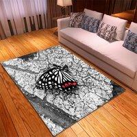 Tapetes de borboleta Home Quarto decorativo piso tapetes modernos sala de estar antiderrapante tapete antiderrapante criança rastejando 3d impressão grandes tapetes 314 v2