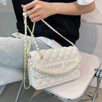 Omuz Çantaları Sonsuza Aşk Nakış İplik Boncuklu Tasarım PU Deri Küçük Crossbody Kadınlar için Kadın 2021 Marka Çanta