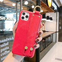 Fashion Phone Cases for iphone 11 12 pro max 7 8 plus X XS XR Xsmax High Quality Leather Hand Straps Wristband Designer Cellphone Cover