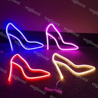 LED Neon Sign SMD2835 Indoor Night Light INS High Heels Model Holiday Xmas Party Wedding Decorations Table Lamps EUB