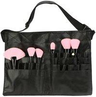 Multifuncional de couro sintético bolsa de cosméticos organizador de maquiagem cinta cinto de cinta de cinto de avental para sacos profissionais de artistas