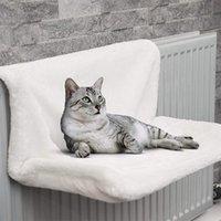 Pet Cat Bed House Animal Hammack Radiator Hanging Winter Fleece Litter Mat Basket Hammocks Iron Frame Sleeping For Cats Beds & Furniture