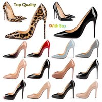 Moda de alta calidad para los estilos de kate zapatos de vestir de las mujeres fondos rojos tacones altos sexy punta puntiaguda suela 8 cm 10 cm 12 cm bombas zapato de boda desnuda