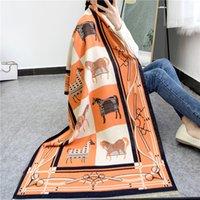 Luxury Design Thick Foulard Cashmere Scarf Ladies Winter Pashmina Female Shawls Wraps Floral Women Blanket Warm Stoles Bufanda 180x65cm