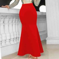 Women's Shorts party long skirts size trumpet stretching skirt elegent ladies'night celebrate christm black red fall 57RT