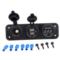 Dual usb car o carregador de motocicleta plug 2 adaptador USB + 12V / 24V Soquete de isqueiro LED + voltímetro digital 3.1a / 4.2a carregador