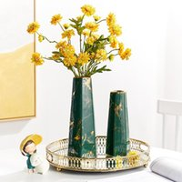 Vases Home Decoration Accessories For Living Room Nordic Gold Vase Tall Wedding Flower Modern Ceramic Luxury Decor