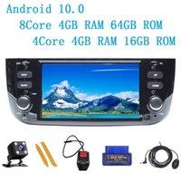 Android 10.0 8core pour / Linea / Punto Evo 2012-2021 Radio GPS Navigation Joueur multimédia Volant Contrôle de la route IPS voiture DVD