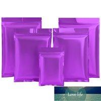 Wholesale 100pcs Flat Bottom Matte Purple Aluminum Foil Zipper Bags Heat Sealing Capsule Powder Nail-tips Cosmetics Socks Bags Factory price expert design Quality