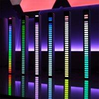 Night Lights LED Strip Light Sound Control Pickup Rhythm Music Atmosphere RGB Bar USB Colorful Lamp For Car Party