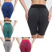 Biker Shorts Hip-Lift Capris Yoga sweatpants High Waist Strench Crop Pants Summer Women Clothing S-2XL Solid Color bell bottoms Running Cycling Leisure wear DHL 267