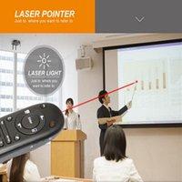 Uzaktan Kontrolörler LaserLight Presenter Pointer Hava Fare PPT Çok Fonksiyonlu PowerPoint Için 2.4G RF Kablosuz Kontrol Kalem