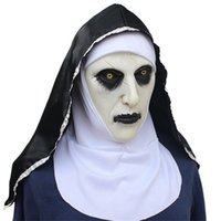 The Nun Cosplay Mask Costume Latex Prop Helmet Valak Halloween Spaventoso horror Eyraur Chancianing Toys Party Costume Props OWB10399