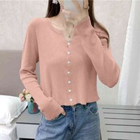 Women's Sweaters Shintimes button cardigans short sweater high elastic sweters feminine Korean spring fashion woman clothes pull femme OEUK