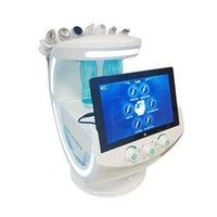 2021 Multifunción Sistema de análisis de la piel Smart Ice Blue Ultrasonic Face Face Scrubber Dermabrasion Facials Machine